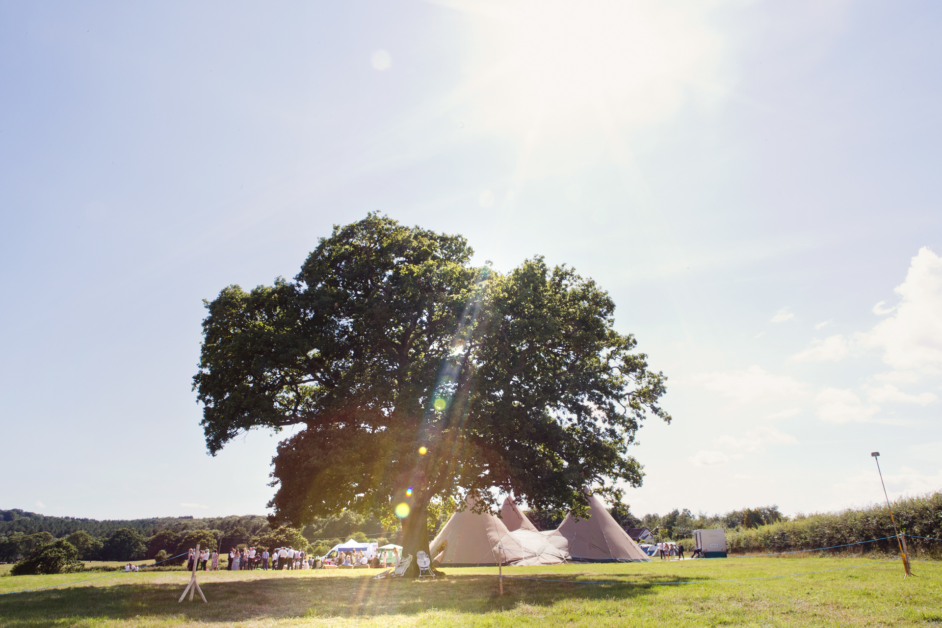 tipi festival style wedding in Hampshore