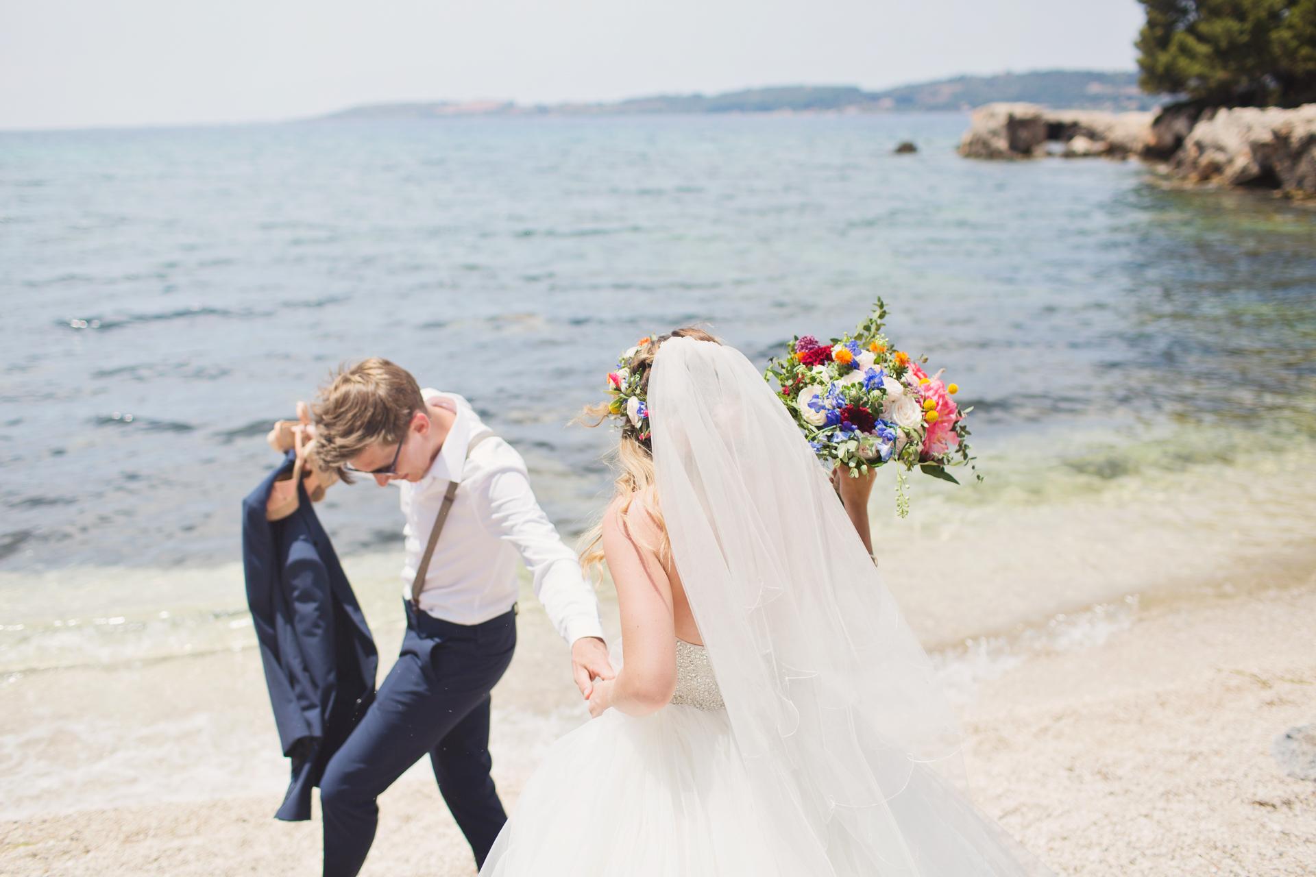 Image of a seaside wedding in Kefalonia