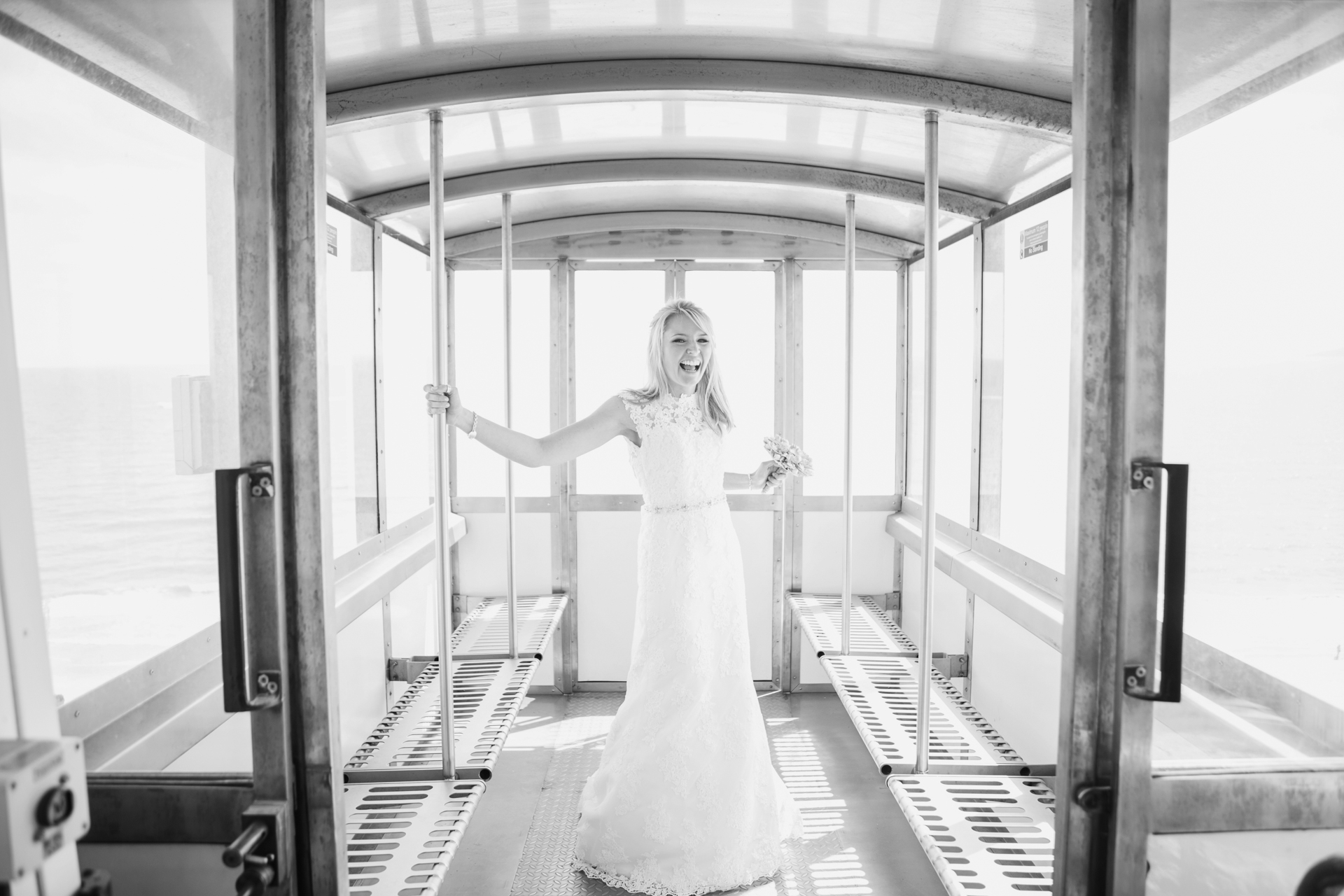 bride about to get married bournemouth beach wedding photographer