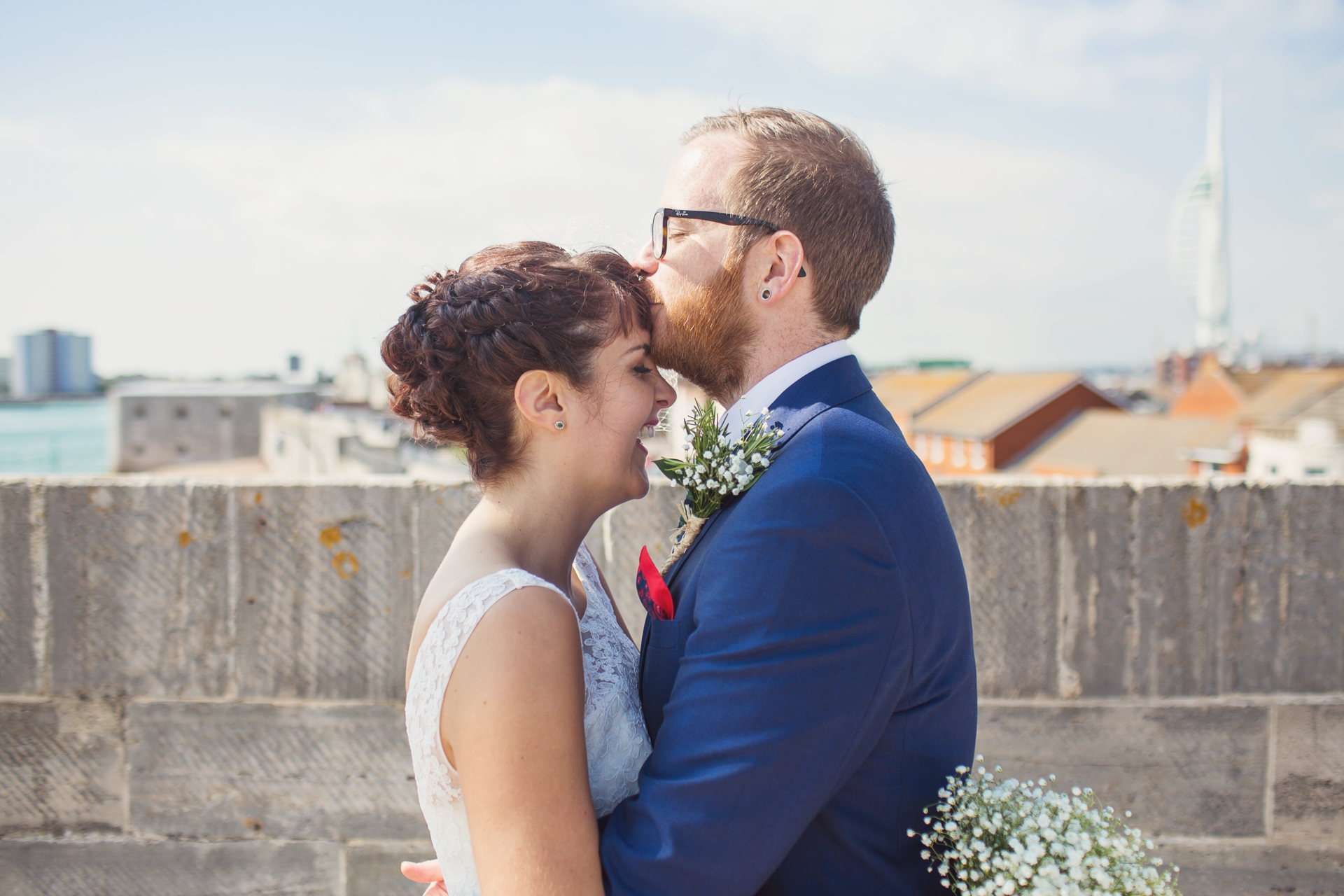 southsea square tower beach wedding