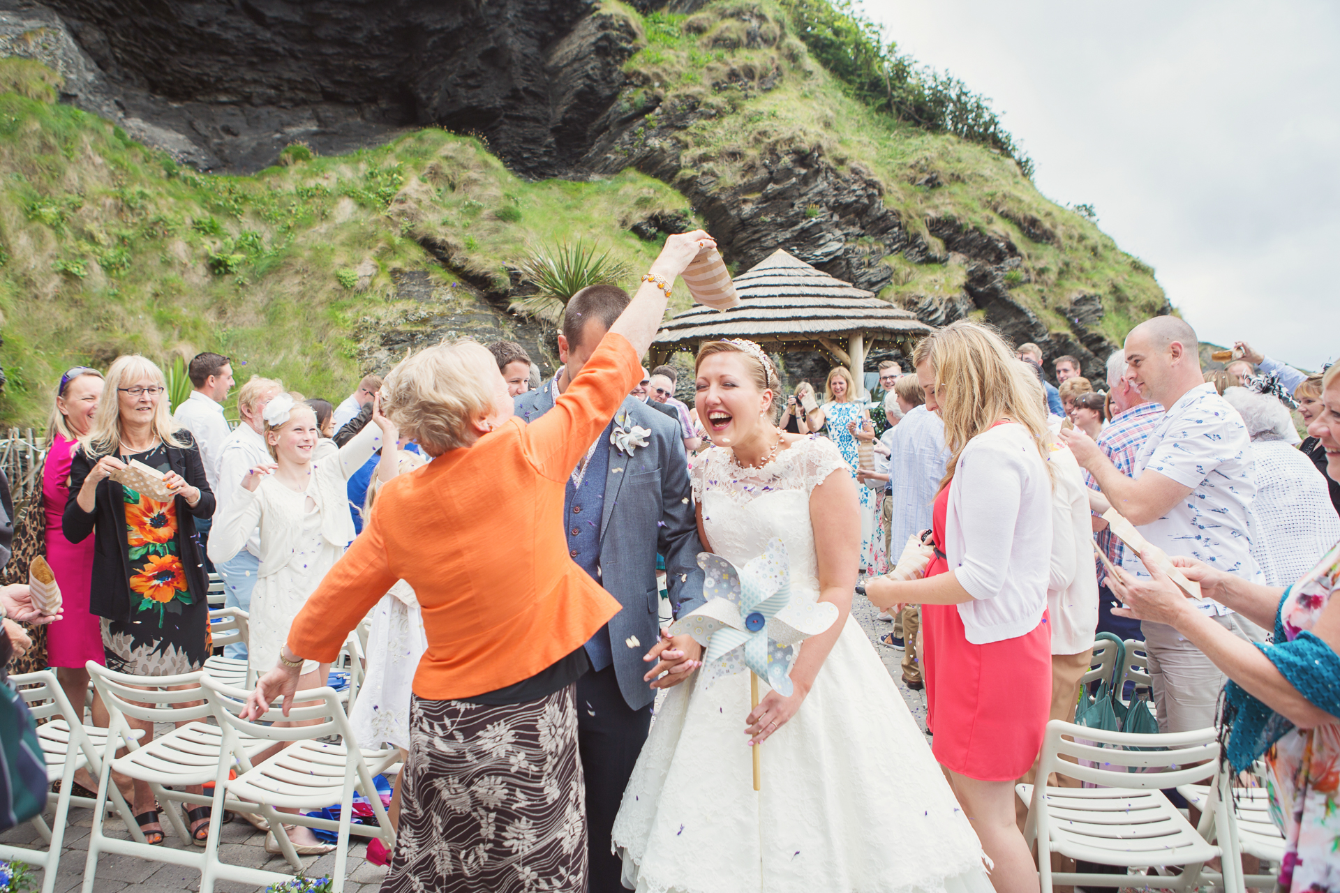 the tunnels beach ilfracombe wedding photographer