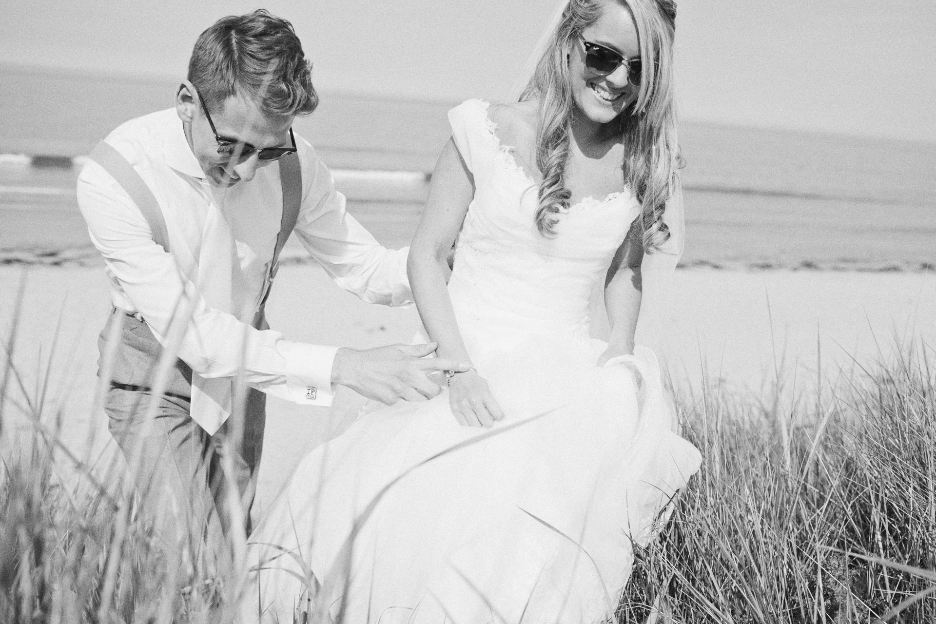 Seaside wedding photographer UK