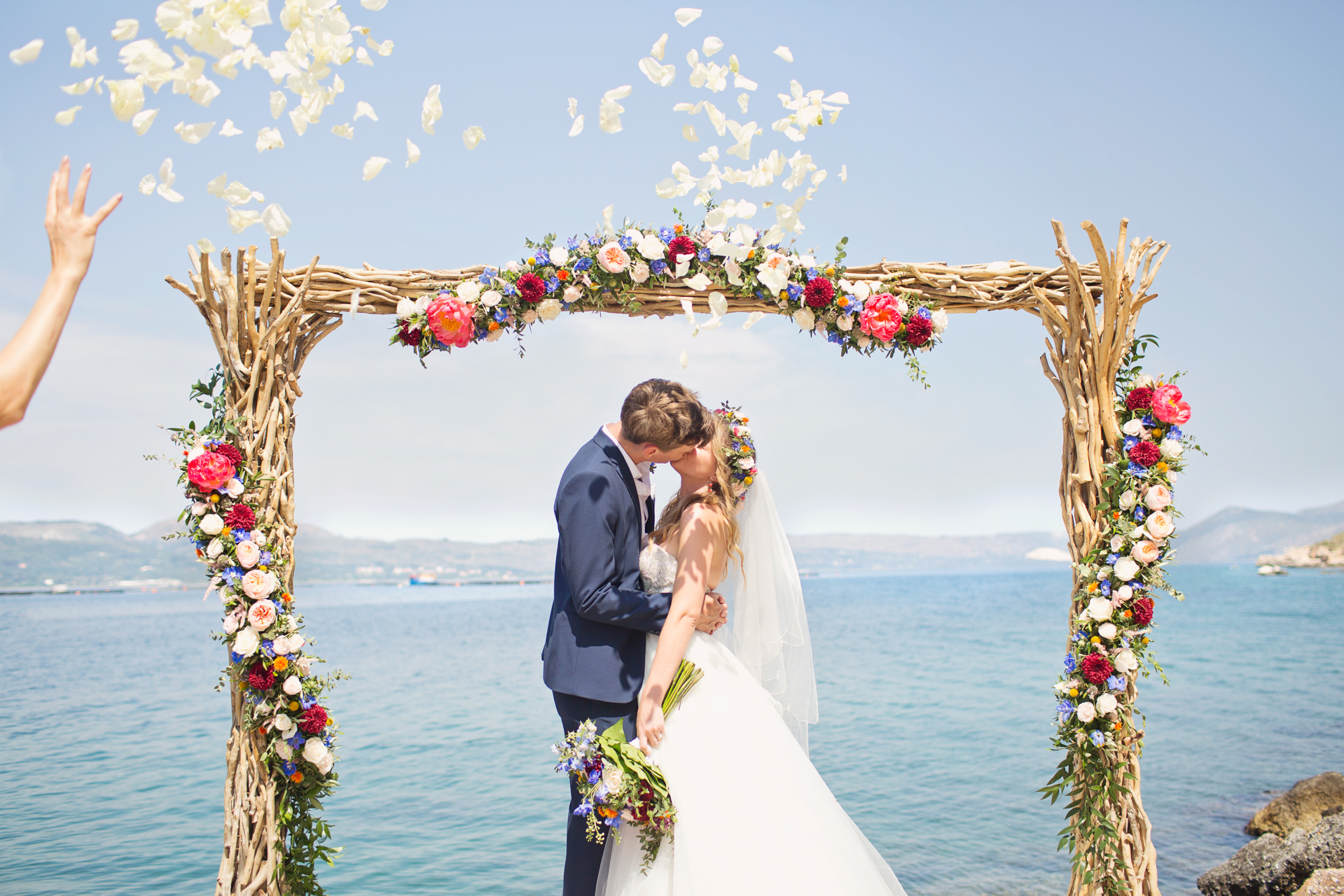 cliff top wedding kefalonia