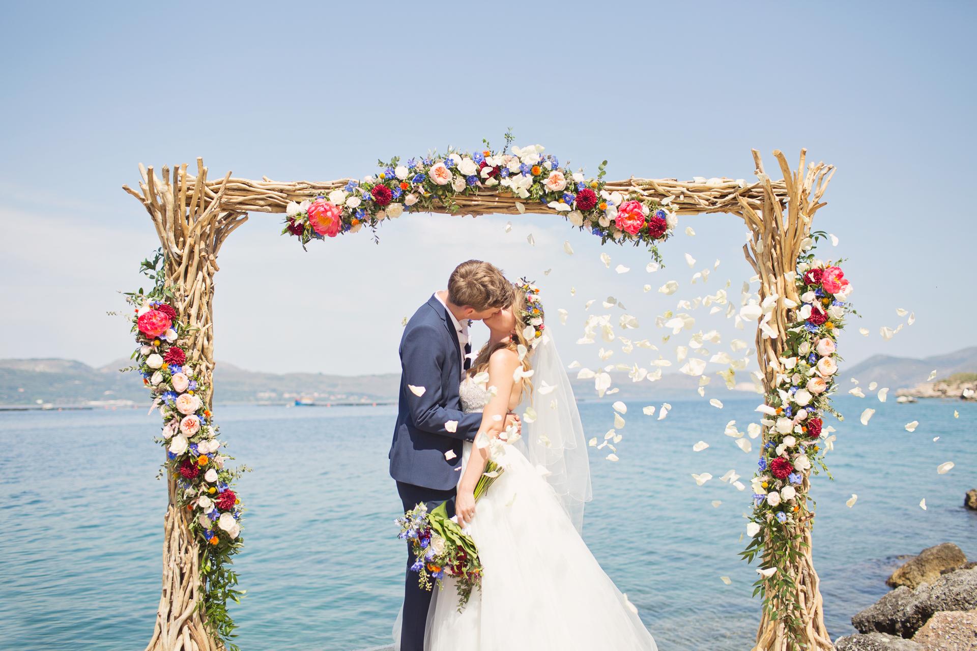kefalonia beach wedding