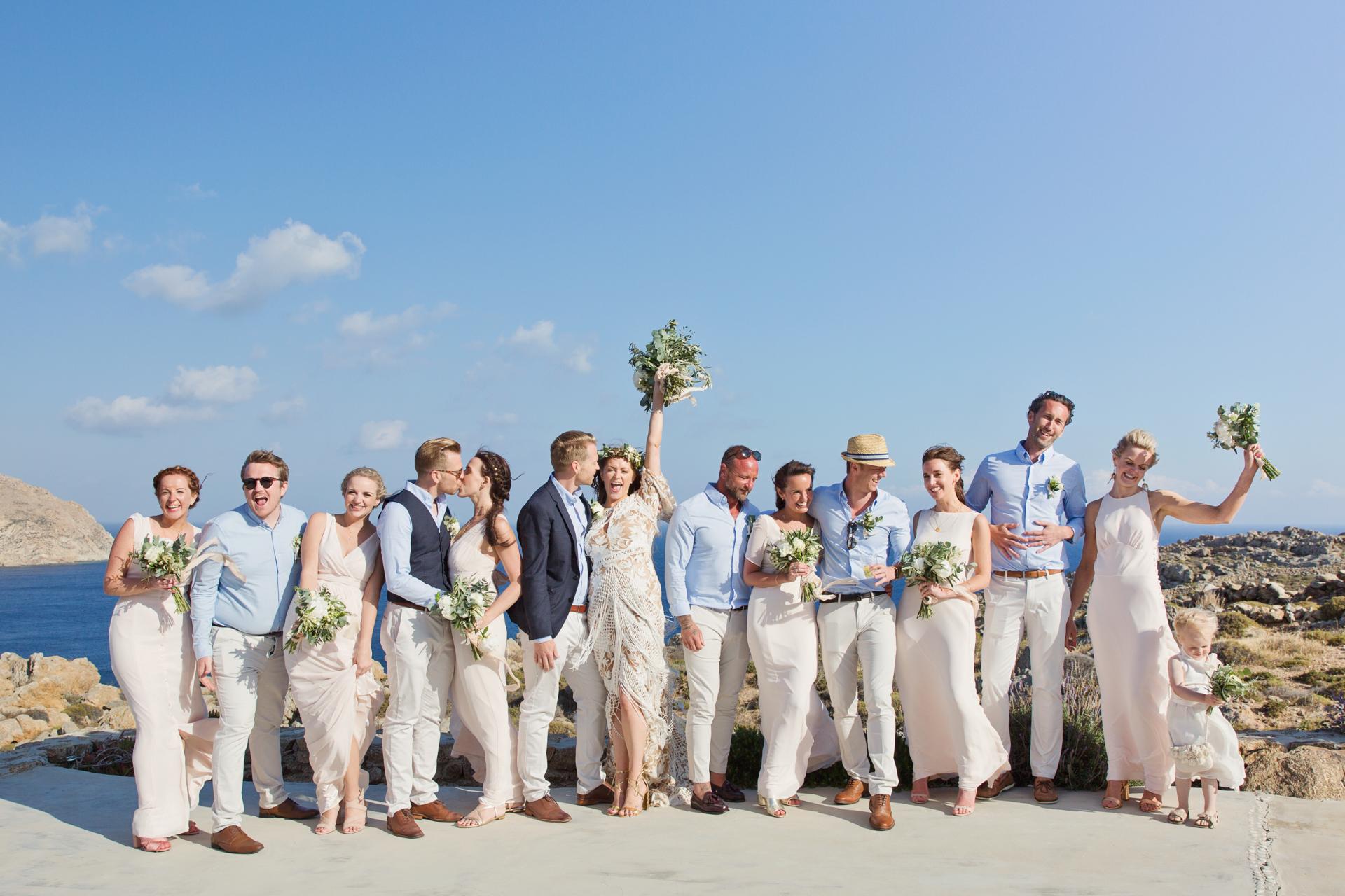Mykonos clifftop wedding