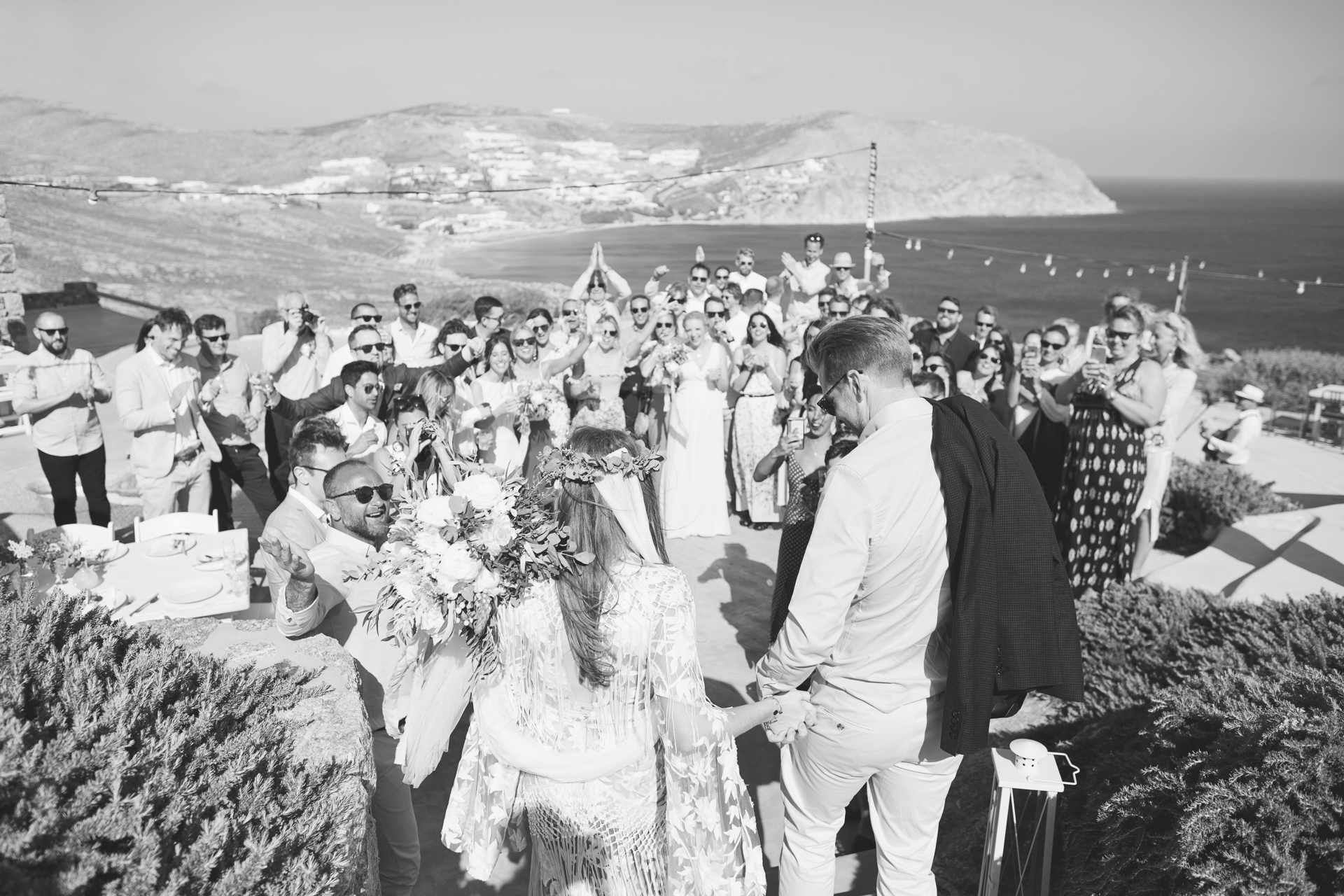 clifftop wedding rocky retreat mykonos