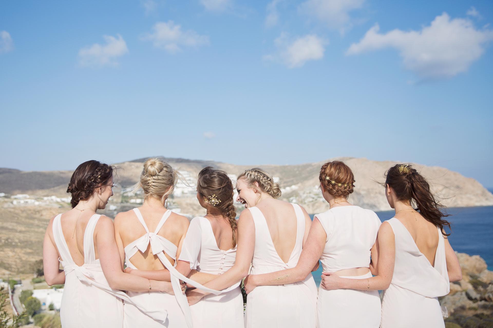 clifftop wedding mykonos