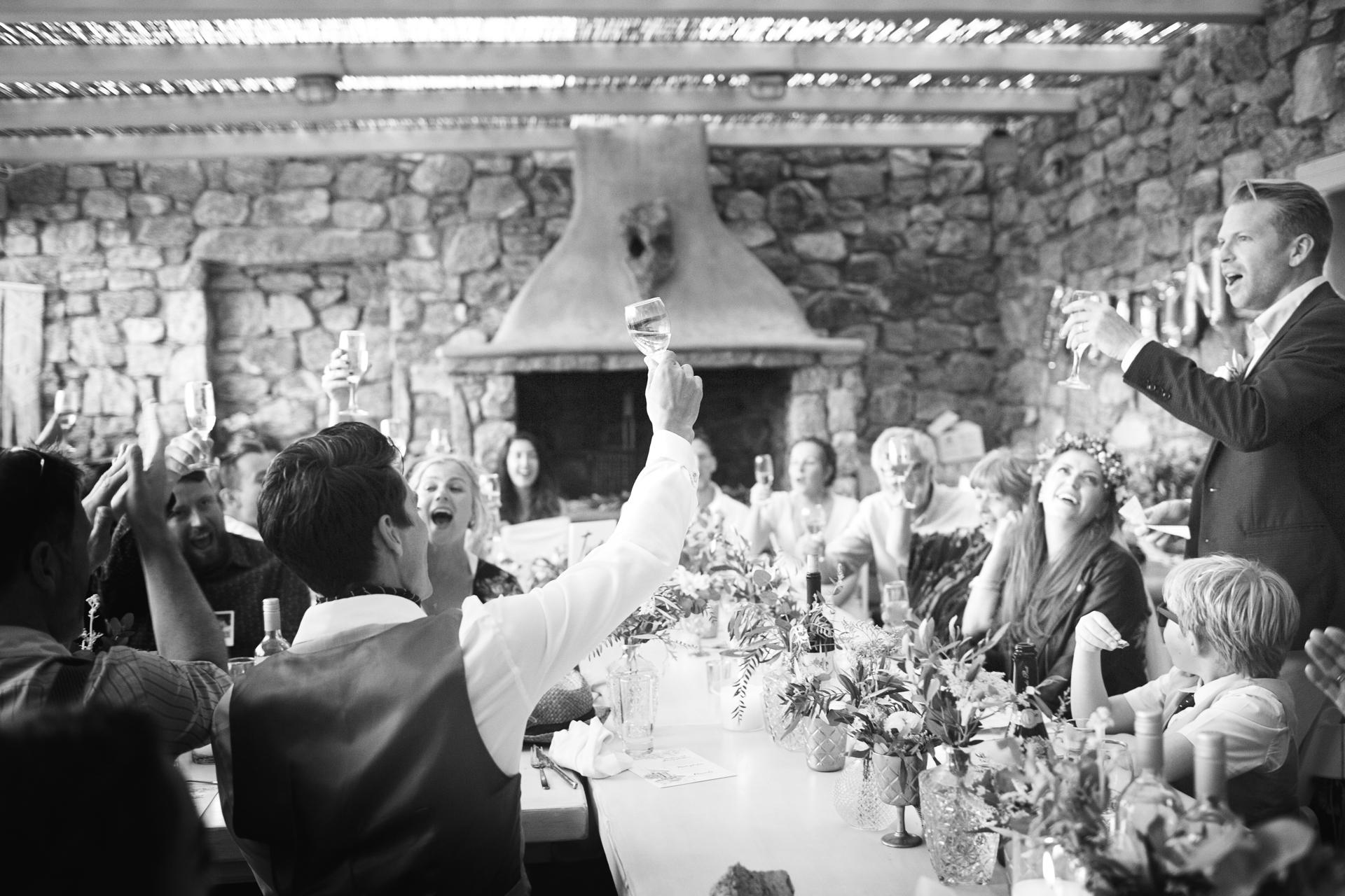 mykonos hill top wedding