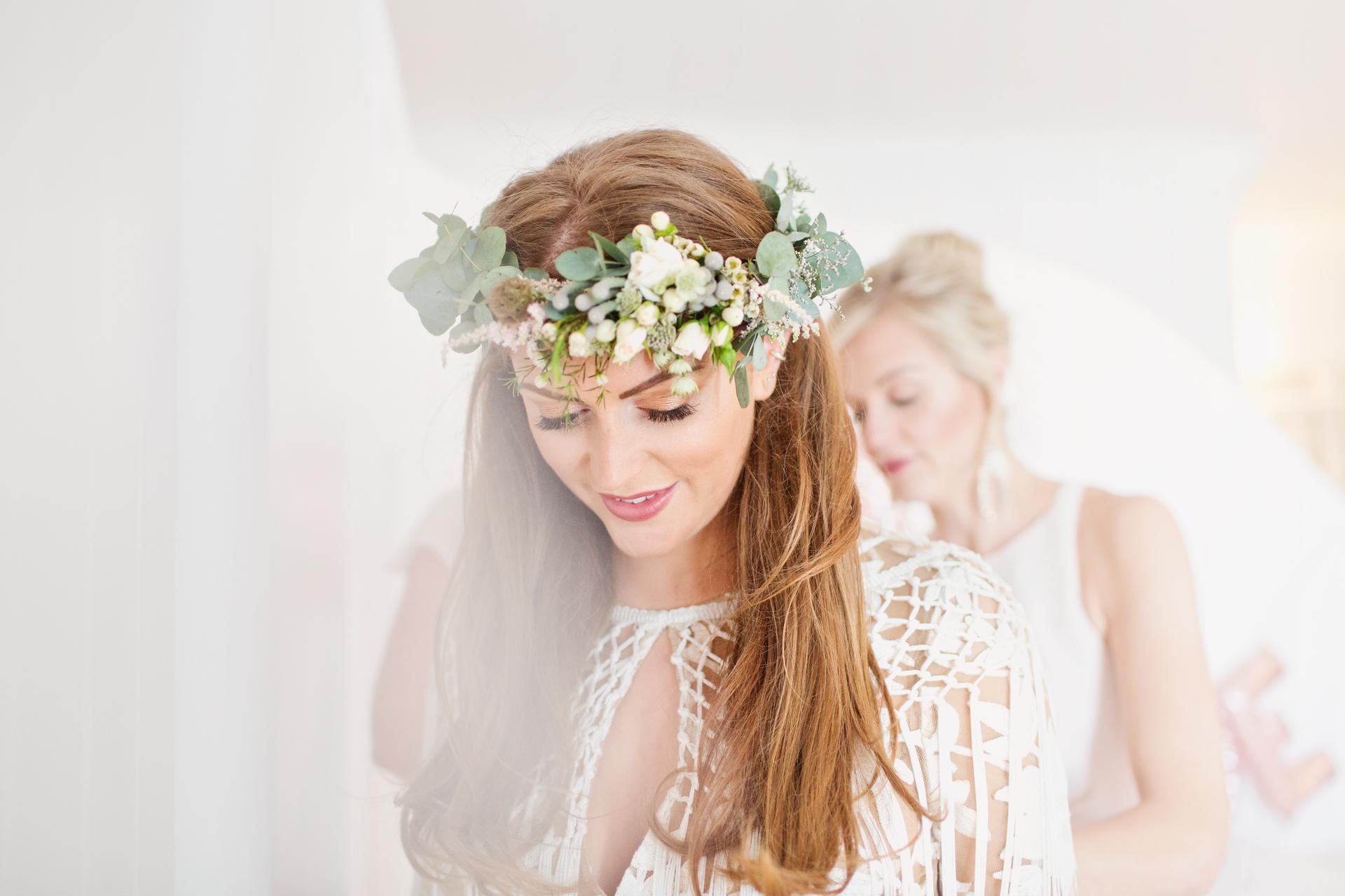 rue de seine tassle bridal gown in mykonos