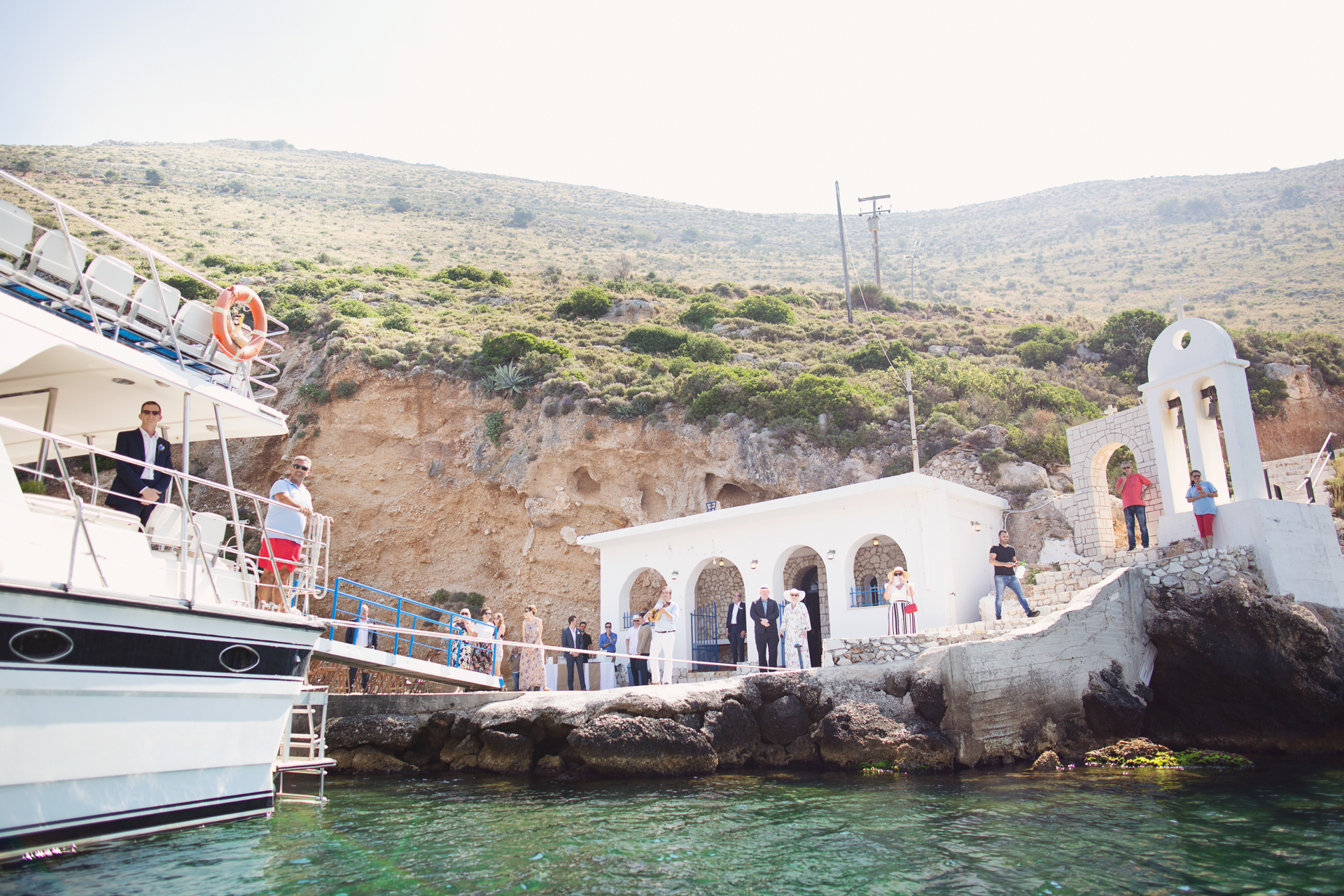 cliff side wedding kefalonia