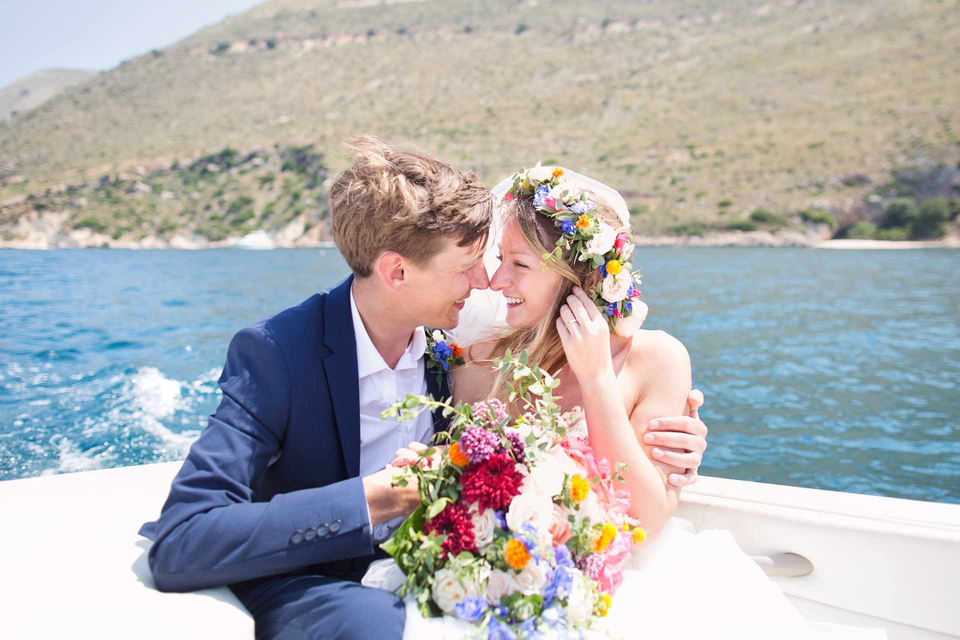 speedboat wedding kefalonia